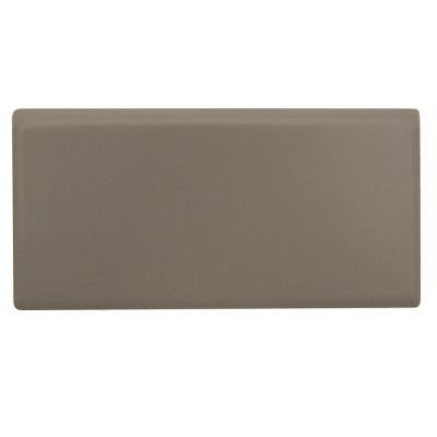 Daltile Rittenhouse Square Matte Urban Putty 3 in. x 6 in. Ceramic Bullnose Wall Tile