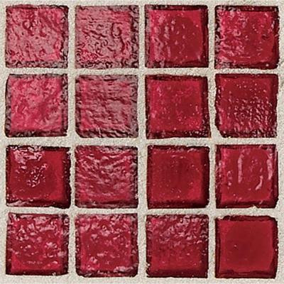 Daltile Egyptian Glass Crimson 12 in. x 12 in. x 6 mm Glass Face-Mounted Mosaic Wall Tile