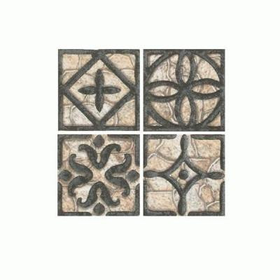 Daltile Fashion Accents Wrought Iron/Beige 2 in. x 2 in. Ceramic Accent Wall Tile