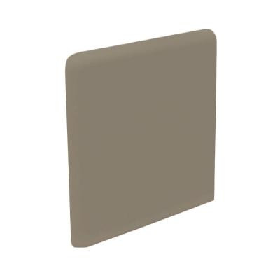 U.S. Ceramic Tile Bright Cocoa 3 in. x 3 in. Ceramic Surface Bullnose Corner Wall Tile-DISCONTINUED