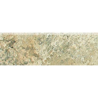 Daltile Folkstone Slate Sandy Beach 2 in. x 6 in. Porcelain Bullnose Wall Tile