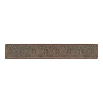 Daltile Castle Metals 2 in. x 12 in. Aged Copper Metal Clover Border Wall Tile