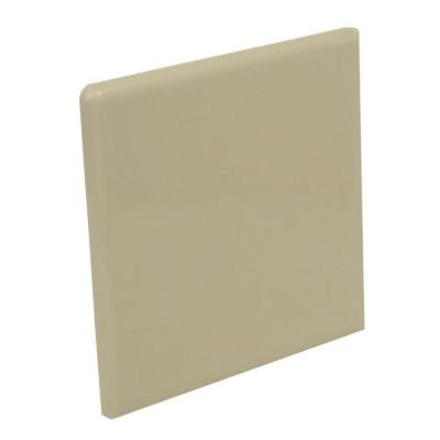U.S. Ceramic Tile Color Collection Bright Fawn 4-1/4 in. x 4-1/4 in. Ceramic Surface Bullnose Corner Wall Tile-DISCONTINUED