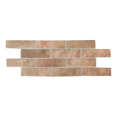 Daltile Union Square Heirloom Rose 2 in. x 8 in. Ceramic Paver Floor and Wall Tile (6.25 sq. ft. / case)