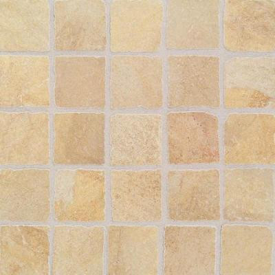 Daltile Portenza Oro Chiaro 13-3/4 in. x 13-3/4 in. x 8 mm Glazed Porcelain Mosaic Floor and Wall Tile