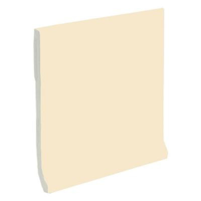 U.S. Ceramic Tile Color Collection Matte Khaki 4-1/4 in. x 4-1/4 in. Ceramic Stackable Cove Base Wall Tile-DISCONTINUED