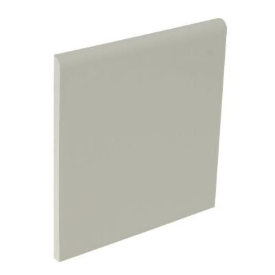 U.S. Ceramic Tile Color Collection Matte Taupe 4-1/4 in. x 4-1/4 in. Ceramic Surface Bullnose Wall Tile-DISCONTINUED