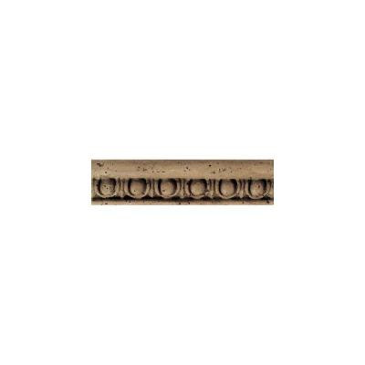 Daltile Fashion Accents Noce Jacquard 2 in. x 8 in. Travertine Listello Accent Wall Tile-DISCONTINUED