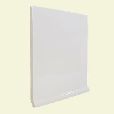 U.S. Ceramic Tile Color Collection Matte Snow White 6 in. x 6 in. Ceramic Stackable Left Cove Base Corner Wall Tile-DISCONTINUED