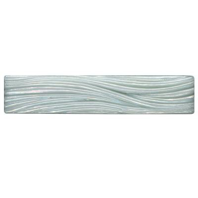 Studio E Edgewater Currents Abalone 7-7/8 in. x 1-5/8 in. Glass Liner Wall Tile-DISCONTINUED
