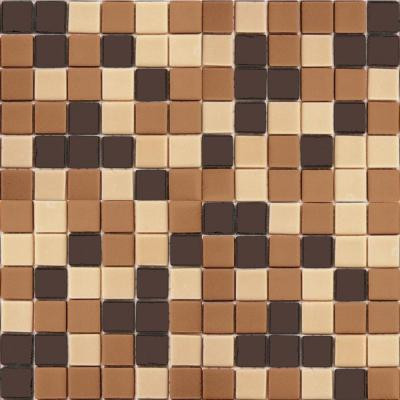 EPOCH Coffeez Coffee Blend-1104 Mosaic Recycled Glass 12 in. x 12 in. Mesh Mounted Floor & Wall Tile (5 sq. ft.)
