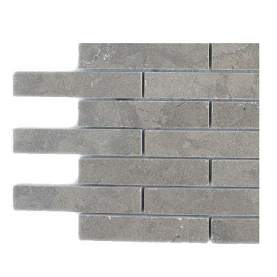 Splashback Tile Medieval Big Brick Polished Marble Floor and Wall Tile - 6 in. x 6 in. Tile Sample-DISCONTINUED