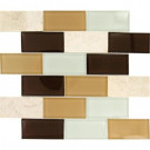 MS International Desert Mirage Subway 12 in. x 12 in. x 8 mm Glass Stone Mesh-Mounted Mosaic Tile
