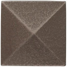 Weybridge 2 in. x 2 in. Cast Metal Pyramid Dot Brushed Nickel Tile (10 pieces / case) - Discontinued