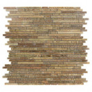 Splashback Tile Windsor Random Wood Onyx 12 in. x 12 in.x 8 mm Marble Floor and Wall Tile