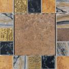 Daltile Terra Antica Bruno 6 in. x 6 in. Porcelain Decorative Insert/Corner Accent Floor and Wall Tile