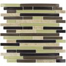 MS International Aspen Interlocking 12 in. x 12 in. x 8 mm Glass Stone Mesh-Mounted Mosaic Tile