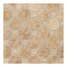 Daltile Salerno Marrone Chiaro 12 in. x 12 in. x 6 mm Ceramic Octagon Mosaic Floor and Wall Tile