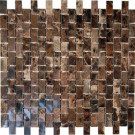 Splashback Tile Rich Dark Emperador 12 in. x 12 in. x 8 mm Marble Mosaic Floor and Wall Tile