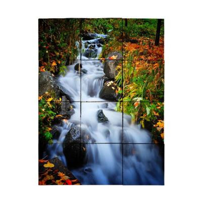 Tile My Style Waterfall1 18 in. x 24 in. Tumbled Marble Tiles (3 sq. ft. /case)