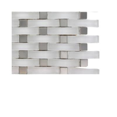 Splashback Tile Contempo Curve Bright White Glass Floor and Wall Tile Sample