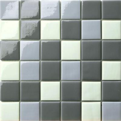 Elementz 12.5 in. x 12.5 in. Capri Grigio Mix Glossy Glass Tile-DISCONTINUED