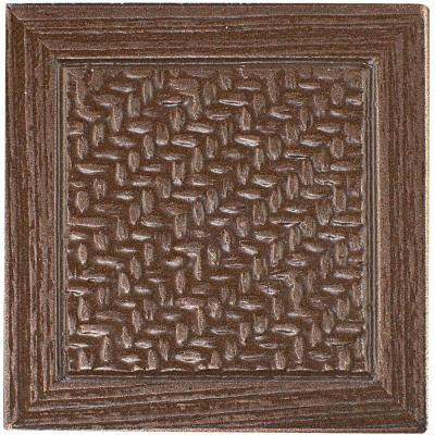 MARAZZI Montagna Bronze 2 in. x 2 in. Metal Resin Basketweave Decorative Floor/Wall Tile