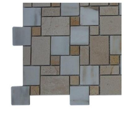 Splashback Tile Parisian Pattern Calcutta Blend Marble Tile Sample