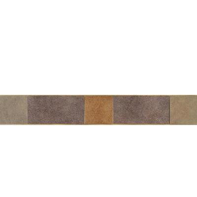 Daltile Veranda Multicolor 3-1/4 in. x 20 in. Deco A Porcelain Accent Floor and Wall Tile