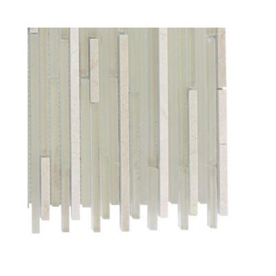Splashback Tile Tetris Stylus Crema Marble Floor and Wall Tile Sample