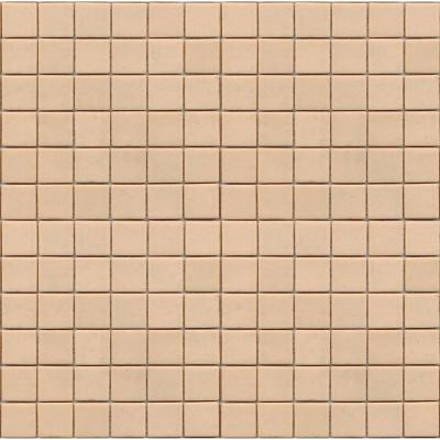 EPOCH Coffeez Latte-1101 Mosaic Recycled Glass 12 in. x 12 in. Mesh Mounted Floor & Wall Tile (5 sq. ft.)