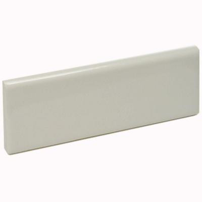 U.S. Ceramic Tile Color Collection Bright Bone 2 in. x 6 in. Ceramic Surface Cap Wall Tile