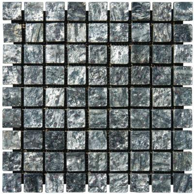 MS International Ostrich Grey 12 in. x 12 in. x 10 mm Tumbled Quartzite Mesh-Mounted Mosaic Tile (10 sq. ft. / case)