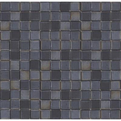 EPOCH Metalz Tungsten-1010 Mosaic Recycled Glass 12 in. x 12 in. Mesh Mounted Floor & Wall Tile (5 sq. ft.)
