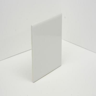 U.S. Ceramic Tile Color Collection Bright White Ice 4-1/4 in. x 4-1/4 in. Ceramic Wall Tile-10.00 sq.ft. Per Case-DISCONTINUED