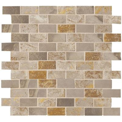 MARAZZI Jade Taupe 13 in. x 13 in. x 8-1/2 mm Glazed Porcelain Floor and Wall Mosaic Tile