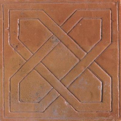Daltile Saltillo Sealed Antique Adobe 8 in. x 8 in. Pinwheel Decorative Floor and Wall Tile-DISCONTINUED