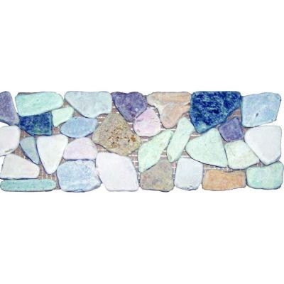 MS International Rock Strip 4 in. x 12 in. Tumbled Marble Listello Floor and Wall Tile