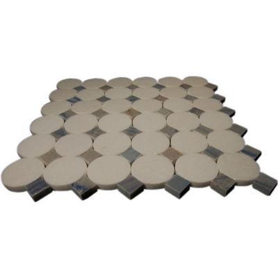 Splashback Tile Orbit Satellite Marble 12 in. x 12 in. x 8 mm Mosaic Floor and Wall Tile