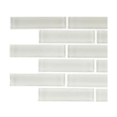 Splashback Tile Contempo Bright White Big Brick Glass Tile Sample