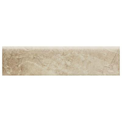 Daltile Continental Slate Egyptian Beige 3 in. x 12 in. Porcelain Bullnose Floor and Wall Tile