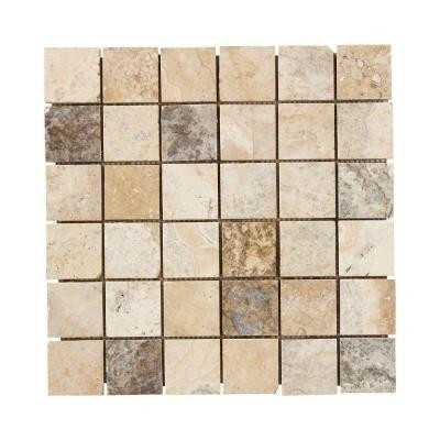 Jeffrey Court Toscano 12 in. x 12 in. x 8 mm Travertine Mosaic Floor/Wall Tile