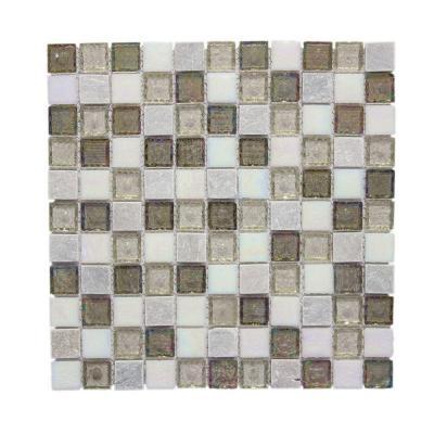 Jeffrey Court Fall Opal Cut-Edge 12 in. x 12 in. x 6 mm Glass Quartzite Mosaic Wall Tile