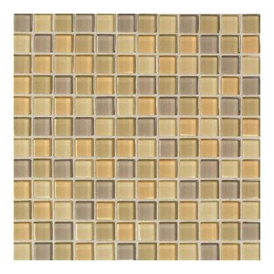 Daltile Maracas Wild Flower Blend 12 in. x 12 in. 8mm Glass Mesh Mounted Mosaic Wall Tile (10 sq. ft. / case)-DISCONTINUED
