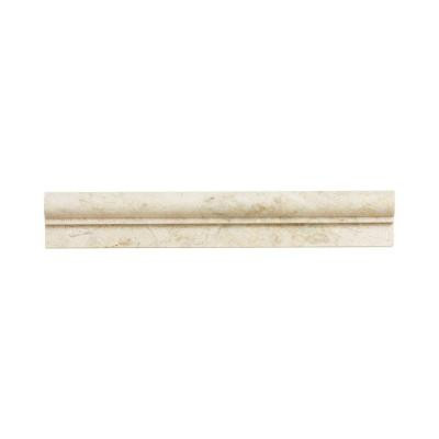 Jeffrey Court Cappuccino 2 in. x 12 in. Marble Crown