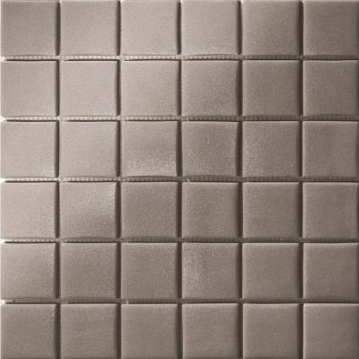 Elementz 12.5 in. x 12.5 in. Capri Grigio Dark Grip Glass Tile-DISCONTINUED