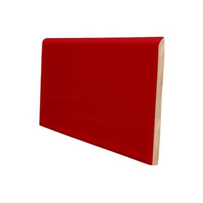 U.S. Ceramic Tile Color Collection 3 in. x 6 in. Bright Red Pepper Ceramic Wall Tile with a 6 in. Surface Bullnose