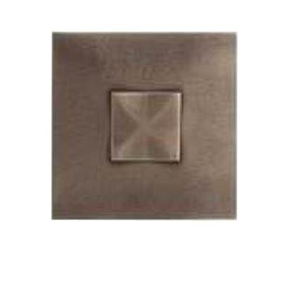 Daltile Urban Metals Bronze 2 in. x 2 in. Composite Dot Geo Wall Tile
