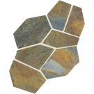 Daltile Natural Stone Collection Mongolian Spring 12 in. x 24 in. Slate Flagstone Floor and Wall Tile (13.5 sq. ft. / case)