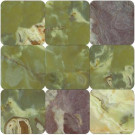 MS International Green 4 in. x 4 in. Tumbled Onyx Floor and Wall Tile (1 sq. ft. / case)